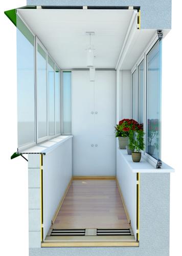Отделка балконов/лоджий.